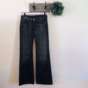 NEW 7 For All Mankind Dark Dojo Flare Jeans 28